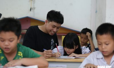 Saigon youth provides free education for underprivileged children