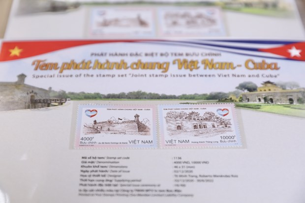Joint stamp issue marks 60th anniversary of Vietnam-Cuba diplomatic ties hinh anh 1