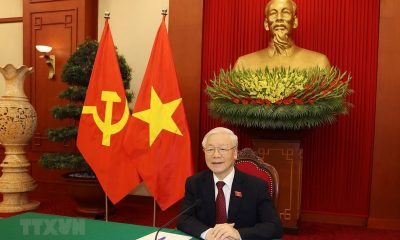 Vietnamese Party chief, Russian president hold phone talks on bilateral cooperation