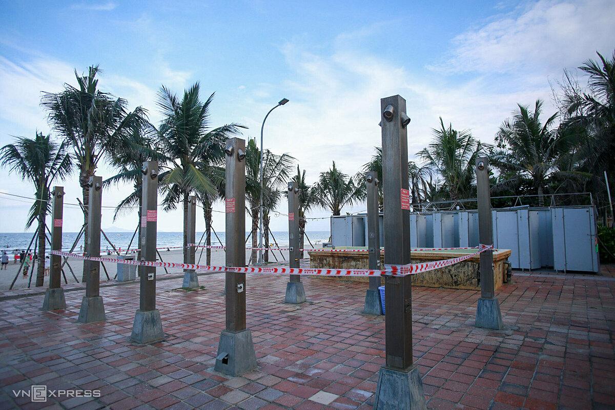 Freshwater bathing area remains closed to avoid large gatherings.