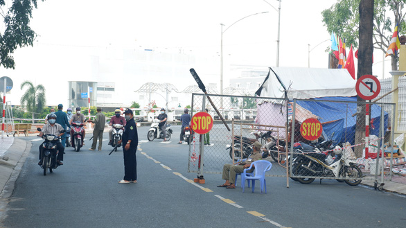 One of the last COVID-19 checkpoints in Tan An City of Long An Province, September 21, 2021. Photo: Son Lam / Tien Phong