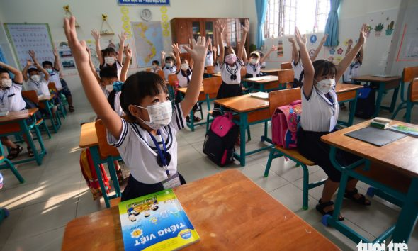 Students in Ho Chi Minh City's island commune return to school